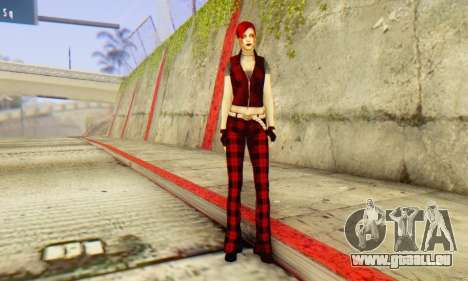 Red Girl Skin für GTA San Andreas her Screenshot