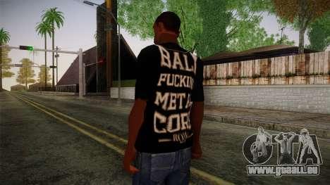 Room 401 T- Shirt für GTA San Andreas zweiten Screenshot