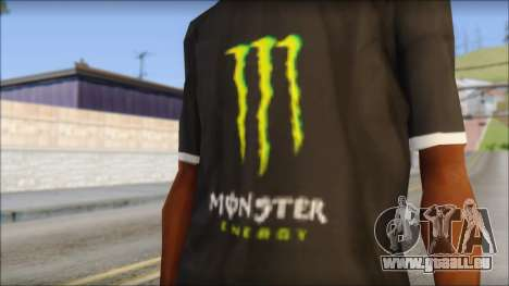 Monster T-Shirt Black für GTA San Andreas dritten Screenshot