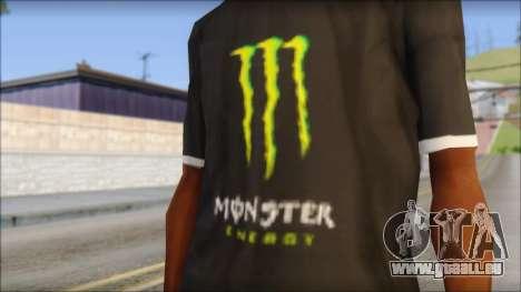 Monster T-Shirt Black pour GTA San Andreas troisième écran