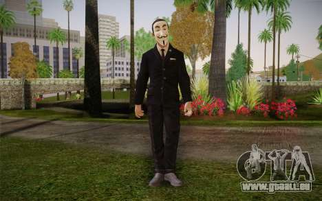Anonymous Skin für GTA San Andreas