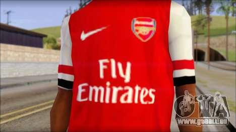 Arsenal 2013 T-Shirt für GTA San Andreas dritten Screenshot