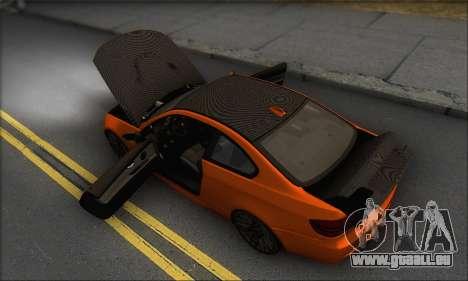 BMW M3 E92 Soft Tuning für GTA San Andreas Unteransicht