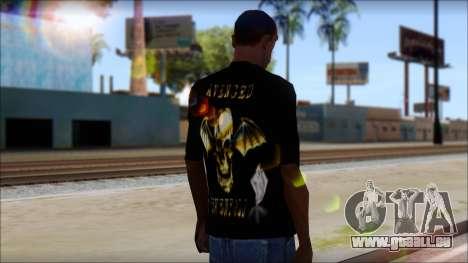 A7X Golden Deathbat Fan T-Shirt pour GTA San Andreas deuxième écran