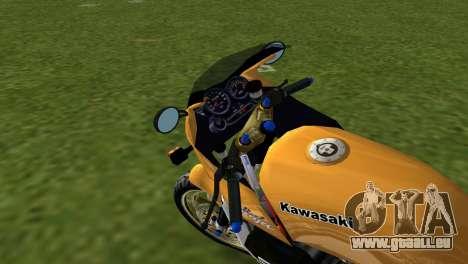 Kawasaki GPZ900R Ninja Tuned pour GTA Vice City sur la vue arrière gauche