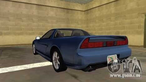 Acura NSX 1991 pour une vue GTA Vice City de la gauche