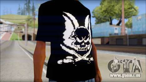 Skull T-Shirt Black für GTA San Andreas dritten Screenshot