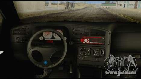 Volkswagen MK3 deLidoLu Edit pour GTA San Andreas sur la vue arrière gauche