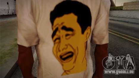 Yao Ming T-Shirt pour GTA San Andreas troisième écran