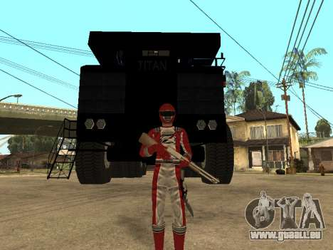 Power Rangers Operation Overdrive für GTA San Andreas zweiten Screenshot