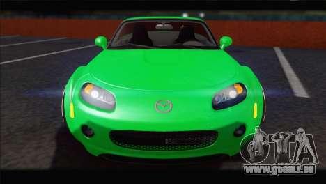 Mazda MX-5 2010 für GTA San Andreas Rückansicht