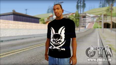 Skull T-Shirt Black für GTA San Andreas