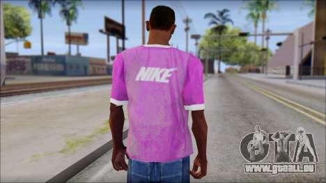 NIKE Pink T-Shirt pour GTA San Andreas deuxième écran