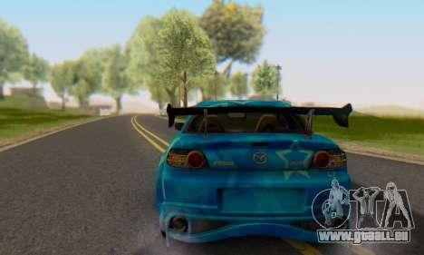 Mazda RX-8 VeilSide Blue Star pour GTA San Andreas laissé vue