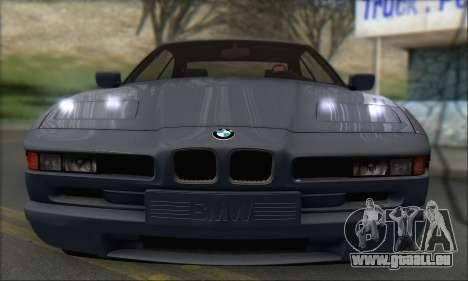 BMW E31 850CSi 1996 für GTA San Andreas zurück linke Ansicht