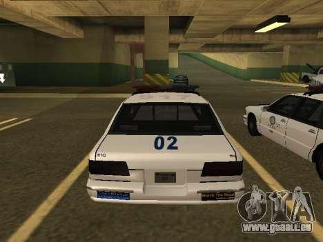 Police Original Cruiser v.4 pour GTA San Andreas vue arrière