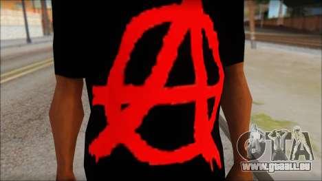 Anarhcy T-Shirt v1 für GTA San Andreas dritten Screenshot