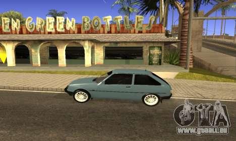 ZAZ Tavria pour GTA San Andreas sur la vue arrière gauche