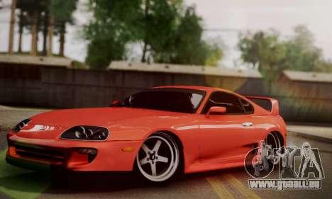 Toyota Supra Stock pour GTA San Andreas sur la vue arrière gauche