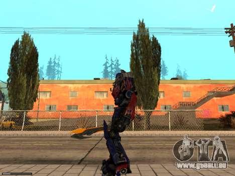 Optimus Sword pour GTA San Andreas deuxième écran