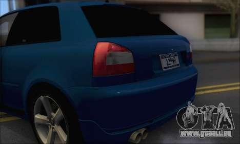 Audi A3 1999 pour GTA San Andreas vue arrière