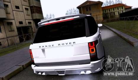 Land Rover Range Rover Startech pour GTA San Andreas vue de droite
