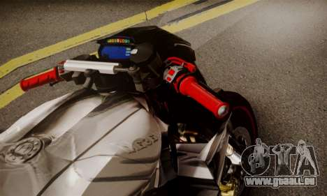 Kawasaki Z1000 2014 - The Predator pour GTA San Andreas sur la vue arrière gauche