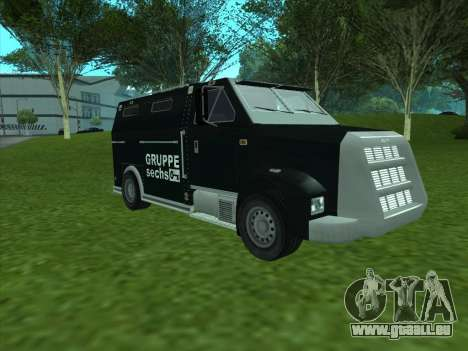 Securicar из GTA 3 für GTA San Andreas linke Ansicht