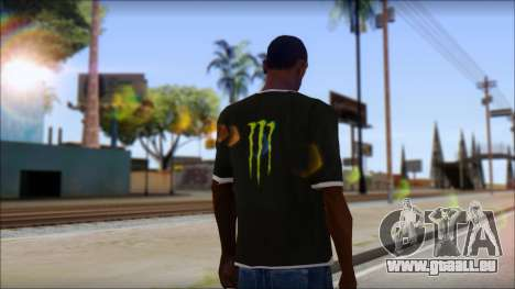 Monster T-Shirt Black für GTA San Andreas zweiten Screenshot