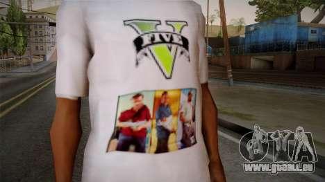GTA 5 MFT T-Shirt pour GTA San Andreas troisième écran