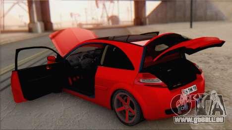 Renault Megane II HatchBack für GTA San Andreas Rückansicht