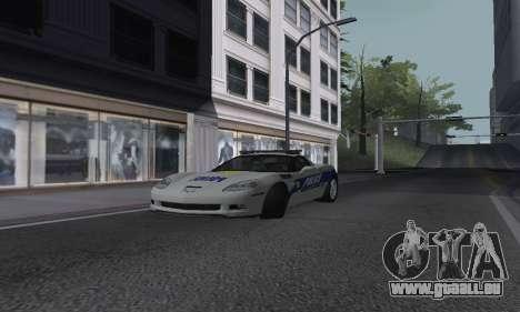 Chevrolet Corvette Z06 Police pour GTA San Andreas