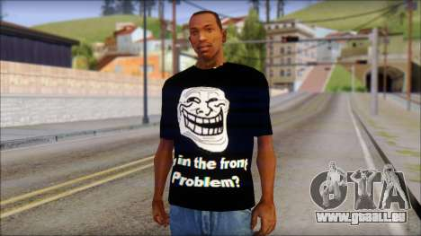 Trollface and Forever Alone T-Shirt pour GTA San Andreas