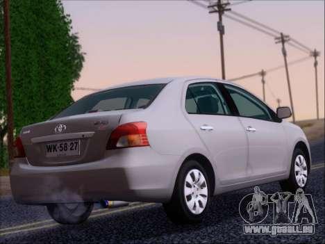 Toyota Yaris 2008 Sedan pour GTA San Andreas vue de droite