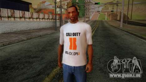 COD Black Ops II White Fan T-Shirt pour GTA San Andreas