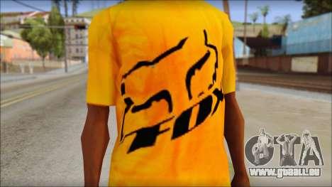 Cj Fox T-Shirt pour GTA San Andreas troisième écran
