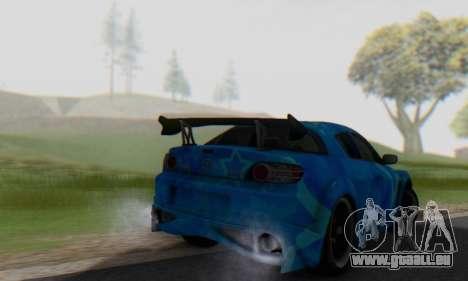 Mazda RX-8 VeilSide Blue Star für GTA San Andreas Rückansicht
