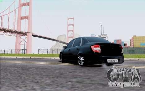 Lada 2190 Granta für GTA San Andreas zurück linke Ansicht