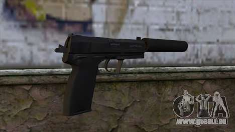 USP-S from CS:GO v2 für GTA San Andreas zweiten Screenshot