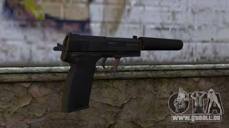 USP-S from CS:GO v2 pour GTA San Andreas deuxième écran