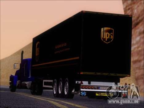 Прицеп United Parcel Service für GTA San Andreas Seitenansicht