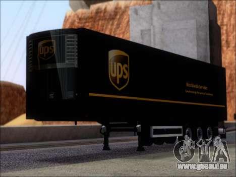 Прицеп United Parcel Service pour GTA San Andreas laissé vue