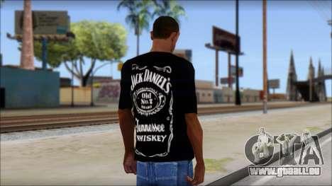 Jack Daniels Fan T-Shirt Black pour GTA San Andreas deuxième écran
