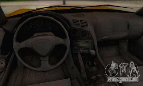 Mazda RX-7 1991 pour GTA San Andreas vue intérieure