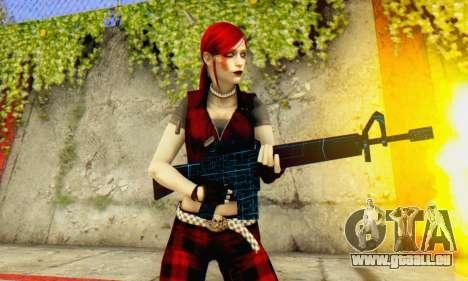 Red Girl Skin für GTA San Andreas fünften Screenshot