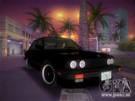 BMW 535i US-spec e28 1985 für GTA Vice City Innenansicht