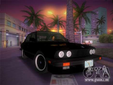 BMW 535i US-spec e28 1985 pour une vue GTA Vice City de l'intérieur