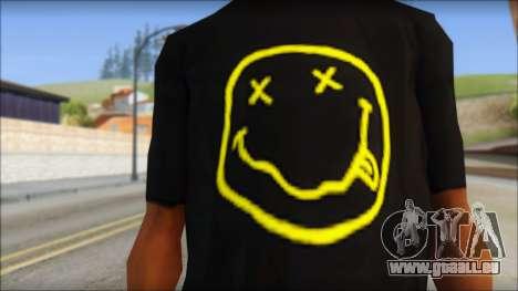 Nirvana T-Shirt für GTA San Andreas dritten Screenshot