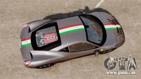 Ferrari 458 Italia Speciale Novitec Rosso für GTA 4 rechte Ansicht