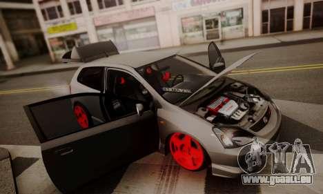 Honda Civic TypeR für GTA San Andreas Rückansicht